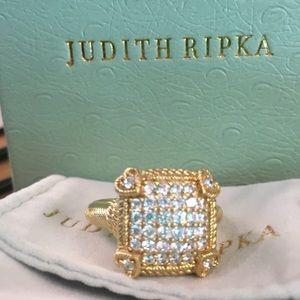 Judith Ripka 14K Clad/925 Olivia ring